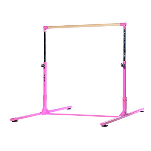 Milliard Professional Gymnastics Kip Bar Height Adjustable, Hot Pink
