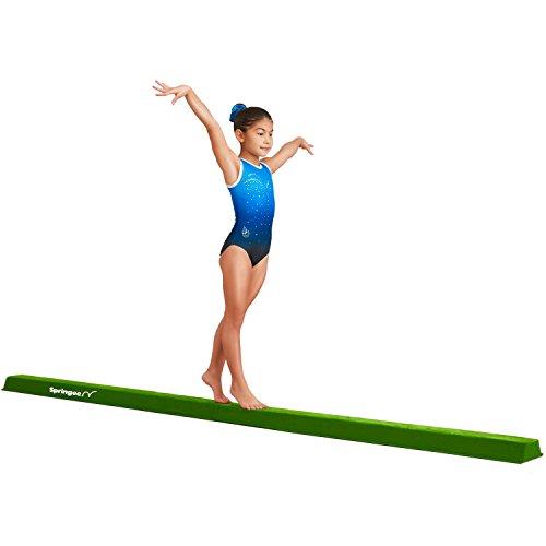 Springee 10ft Balance Beam - Extra Firm - Suede Folding Gymnastics Beam for Home...