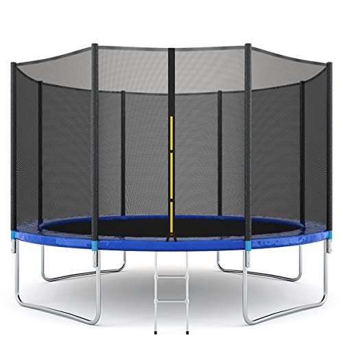 Giantex Trampoline Combo Bounce Jump Safety Enclosure Net W/Spring Pad Ladder,...