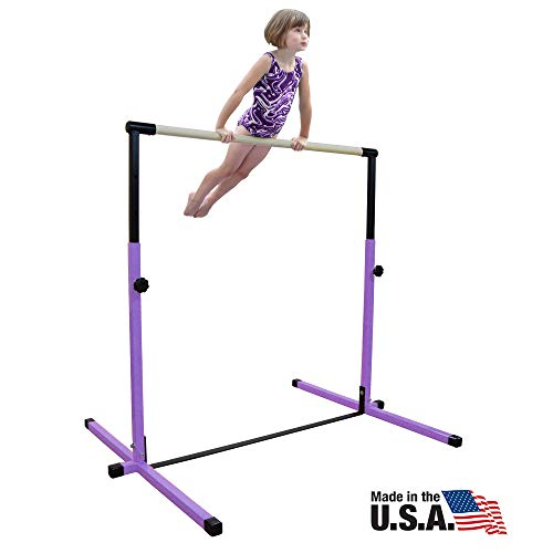 Nimble Sports Purple Junior Adjustable Horizontal Bar - Kids Kip Bar