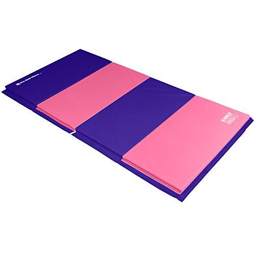 We Sell Mats 4 ft x 8 ft x 2 in Gymnastics Mat, Folding Tumbling Mat, Portable...