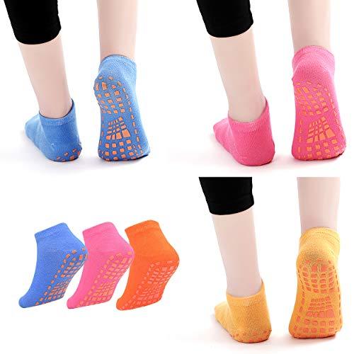 6 Pairs Non-Slip Trampoline Socks for...