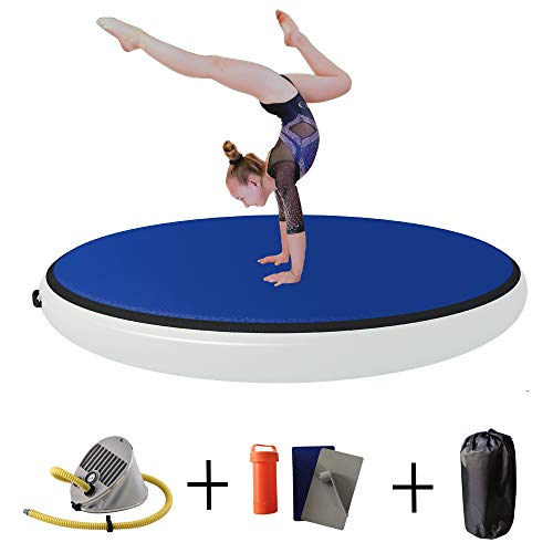 FUNME Round Air Spot Tumbling Mats Inflatable Gymnastics Training Airtracks