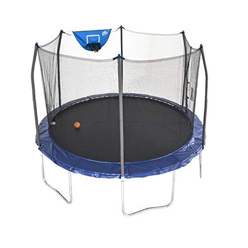 Skywalker Trampolines 12-Foot Jump N' Dunk Trampoline with Enclosure Net -...