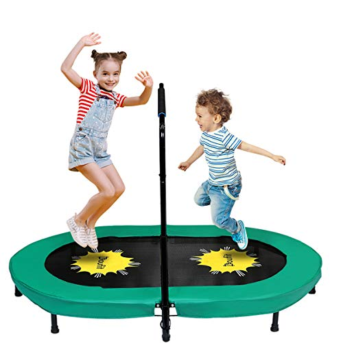 Doufit Trampoline for 2 Kids and Adults with Adjustable Handle, TR-01 Double...