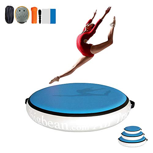 ibigbean Air Spot Tumbling Mats Inflatable Gymnastic Equipment (Grey/Blue,...