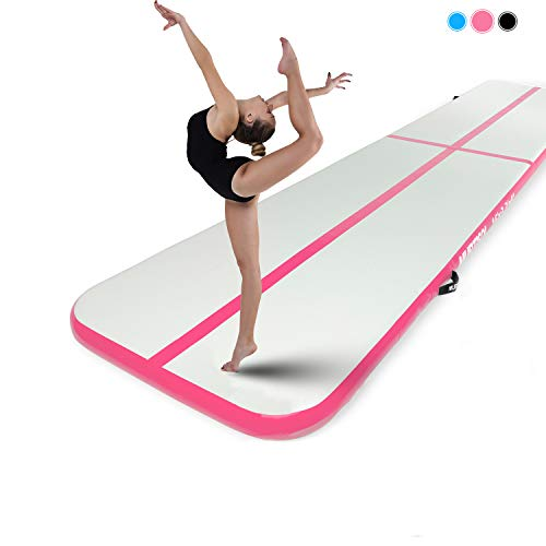 Murtisol 16ft Inflatable Gymnastics Training Mats Tumbling Mats 4 Inch Thickness...
