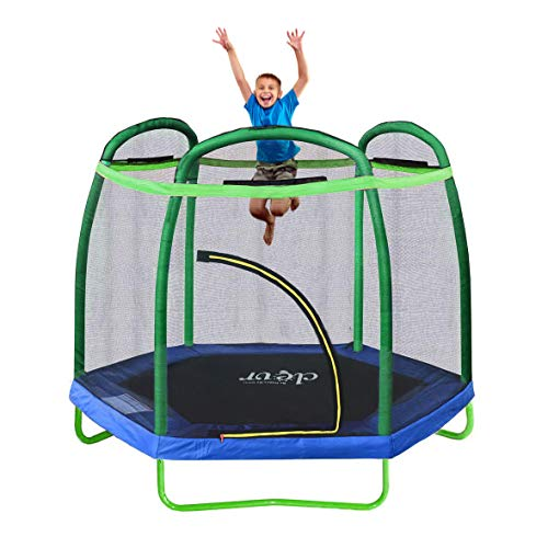 Clevr 7ft Kids Trampoline with Safety...