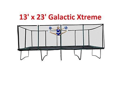Galactic Xtreme Gymnastic Commercial Grade Trampoline 13 x 23 FT Rectangle,...