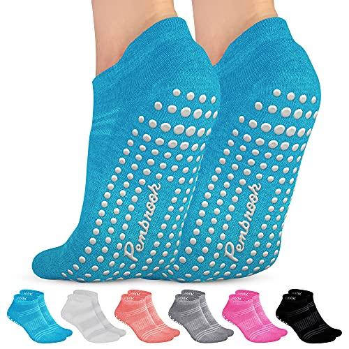 Grip Socks - S/M - (6-Pairs) - Black,...