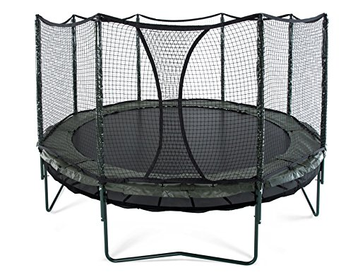 JumpSport 14' DoubleBounce | AlleyOOP Trampoline with Enclosure | Double The...
