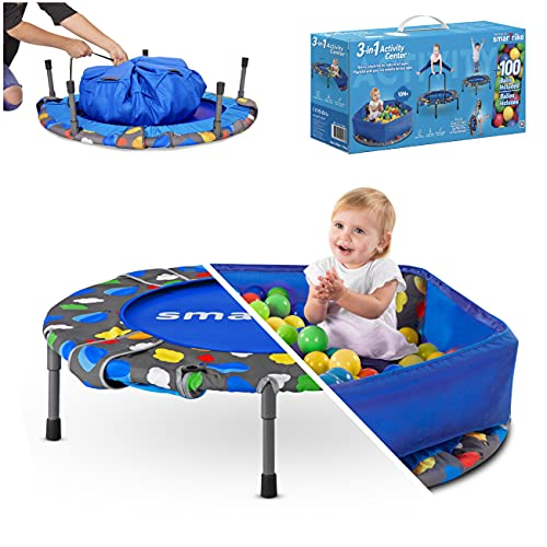 smarTrike Toddler Trampoline with Handle...