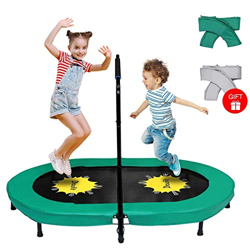 Doufit Trampoline for Kids and Adults with Adjustable Handle, TR-01 Double...
