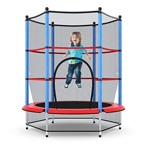 Giantex 55' Kids Trampoline, with Safety...