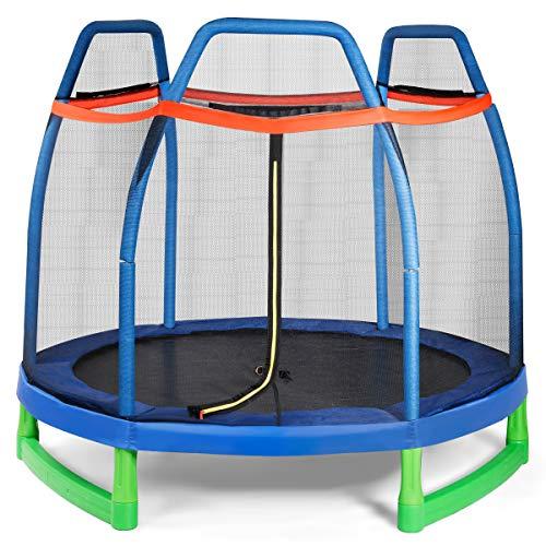 Giantex 7 Ft Kids Trampoline w/Safety Enclosure Net, Spring Pad, Zipper, Heavy...