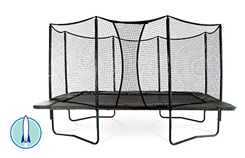 JumpSport AlleyOOP PowerBounce 10'x17' Trampoline with Enclosure | 2 Layers...