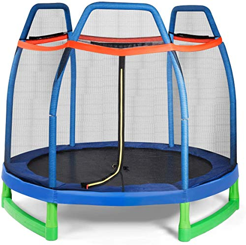 Giantex 7 Ft Kids Trampoline w/Safety...