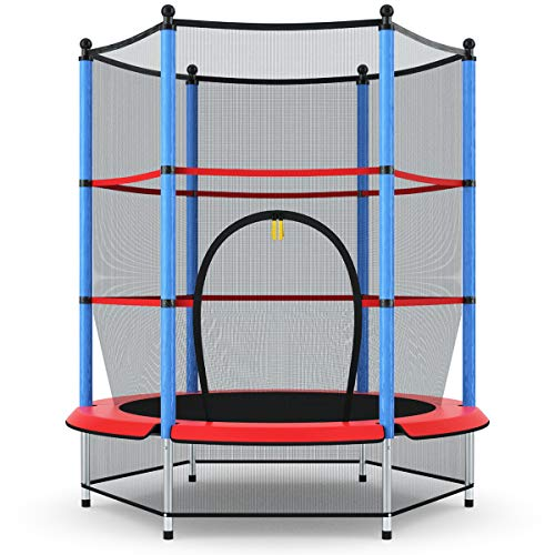 Giantex 55' Kids Trampoline, with Safety Enclosure Net & Spring Pad, Bulit-in...