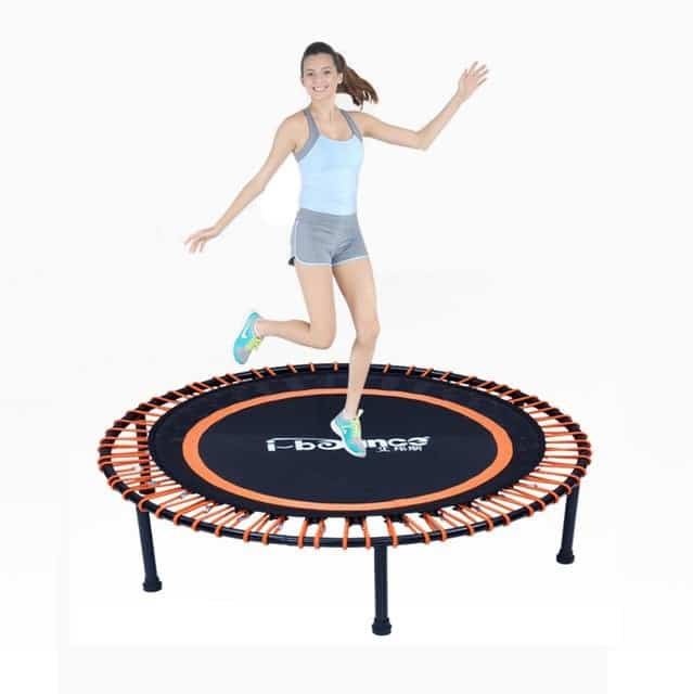 Jumping on a Mini Trampoline