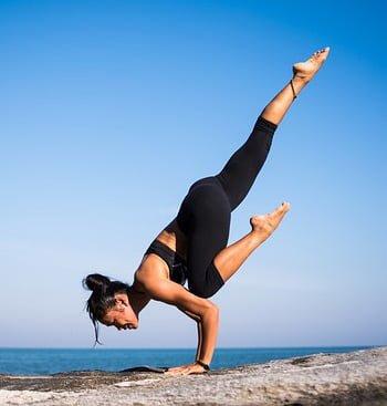 trampoline yoga balance