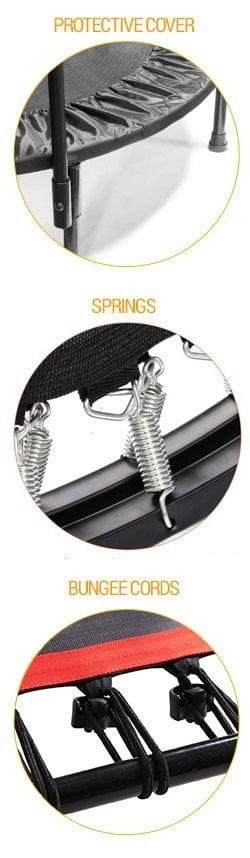 fitness mini trampoline rebounder cords