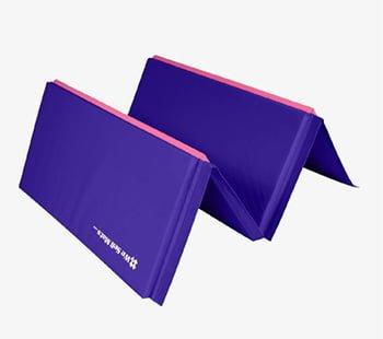 Folding gymnastics mat