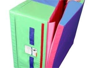 TumblTrak Folding Incline Mats feature a Velcro flap