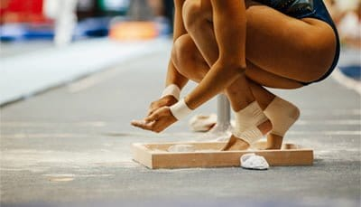 gymnastics chalk powder