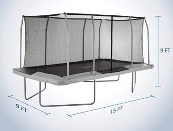 rectangle gymnastics trampoline