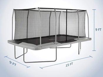 rectangle gymnastics trampoline