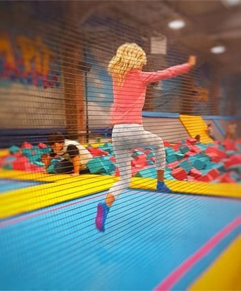 toddlers and trampoline park