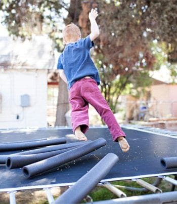 Kids trampoline safety secure